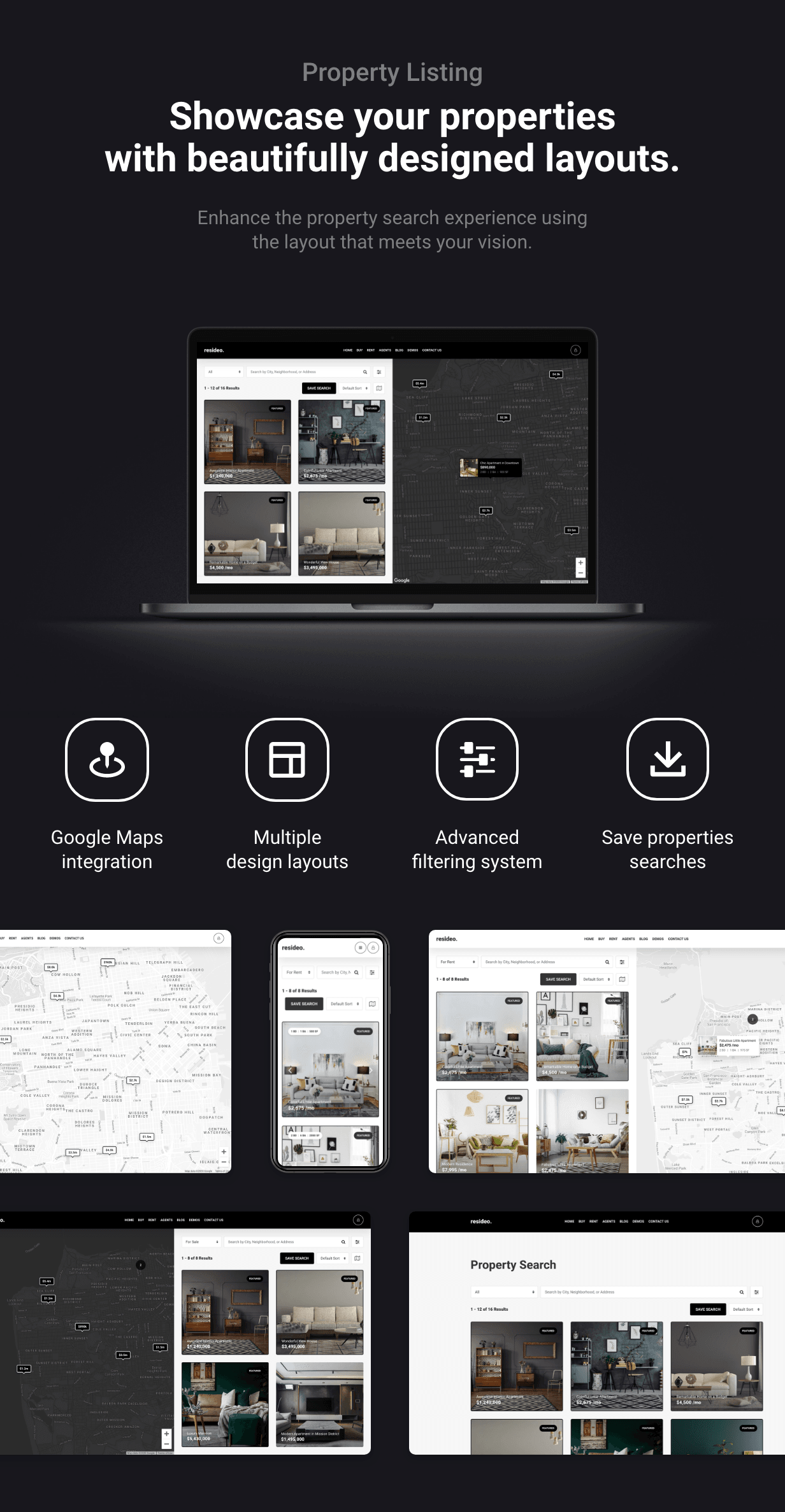 Resideo - Real Estate WordPress Theme - Properties