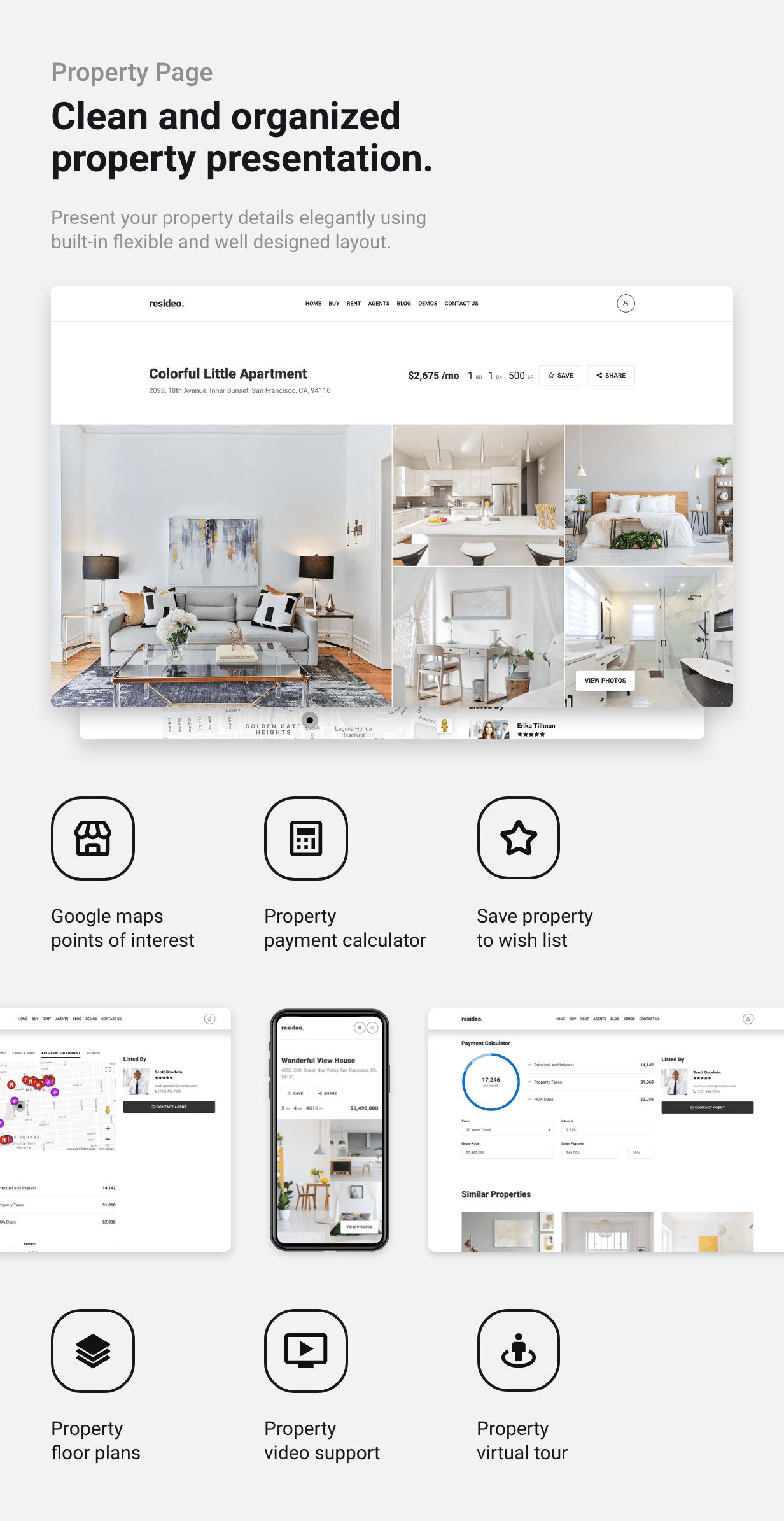 Resideo - Real Estate WordPress Theme - Single Property