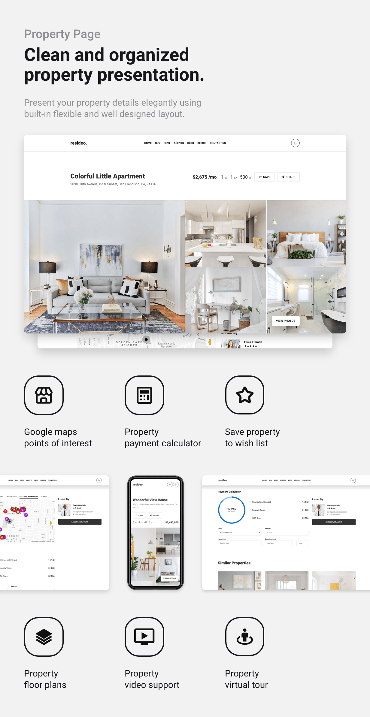 Resideo - Real Estate WordPress Theme - Single Property