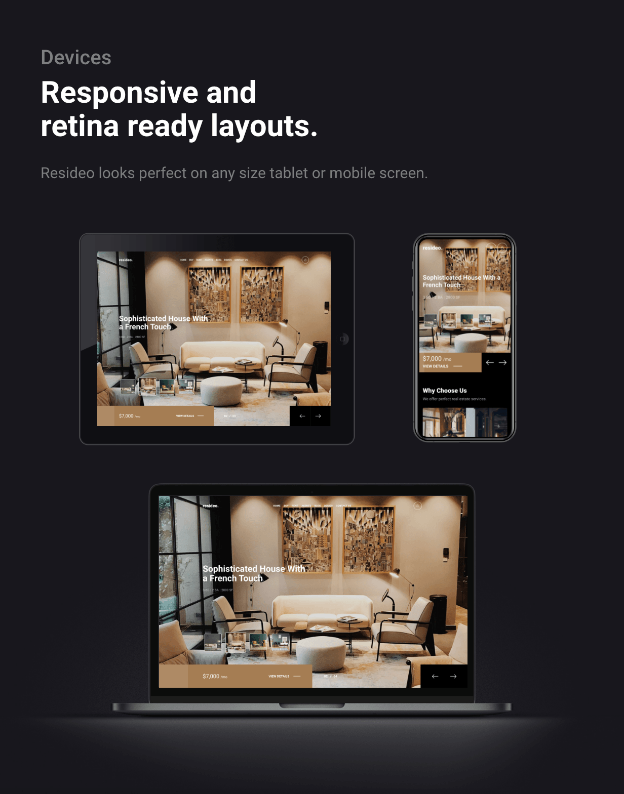 Resideo - Real Estate WordPress Theme - Responsive